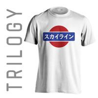 Kaos Premium Brand TRILOGY Automotive JDM Retro Nissan Logo Tshirt