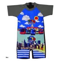 Baju Renang Diving Anak TK Karakter Tayo Size M - XL