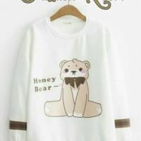Teddy - baju murah atasan kaos top cewek wanita remaja lengan panjang