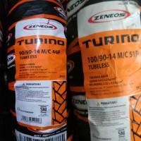 Ban Tubeless Zeneos 90/90-14 & 100/90-14 Paket Turino Depan Belakang