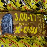 Ban Trail Swallow 3.00-17 Atau 300-17 X-Cross SB-111 Bukan Tubeless TT