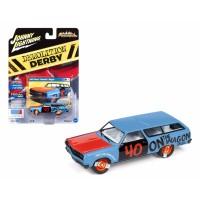 Johnny Lightning 1/64 1965 Chevy Chevelle Wagon Demolition Derby