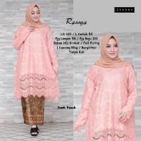 RASSYA Tunik Big Size Brokat Kebaya LD 120 cm Atasan Baju Pesta Muslim