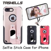 Tashells Built In Selfie Stick Case Bluetooth for iPhone 7 Plus +