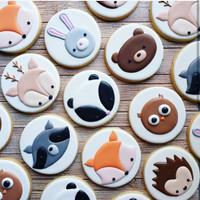 butter cookies dengan icing | kukis hias tema animal / hewan/ binatang
