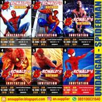 KARTU UNDANGAN ULTAH SPIDERMAN A/ ULANG TAHUN