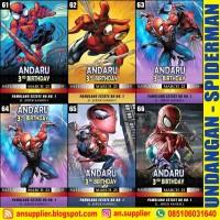 KARTU UNDANGAN ULTAH SPIDERMAN C/ ULANG TAHUN