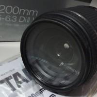 Lensa Tele for CANON Merk TAMRON 18-200 MM F3.5-6.3 Di II VC - Bekas