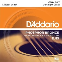 Daddario EJ15 Phosphor Bronze 010 Senar Akustik D'addario Original USA