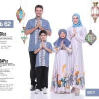 Baju Muslim Sarimbit Keluarga Nibras Family 62 Abu Stelan Couple Motif