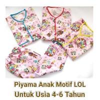 Piyama Anak Karakter Motif LOL Untuk Anak Usia 4-6 Tahun