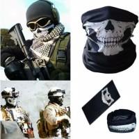 Masker Motor Import Buff Rahang Tengkorak Skull - Bandana Slayer