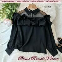 Blouse Korean Hitam [Baju Atasan Wanita 0153] SC9
