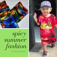 Setelan Baju Anak Pantai Rayon Bali - No 1 usia 1-3