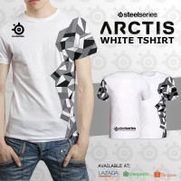 T-Shirt Steelseries Artics White | Kaos Gaming Dota 2 CS:Go SS Razer