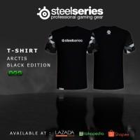 T-Shirt Steelseries Artics Black | Kaos Gaming Dota 2 CS:Go SS Razer