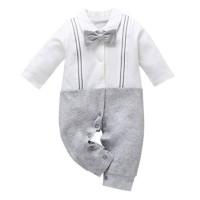 romper bayi motif abu abu dasi formal keren