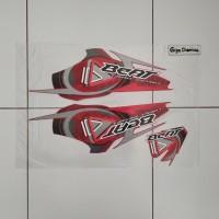 Striping Sticker Lis Honda Beat Old Karbu 2009 2010 Merah Original