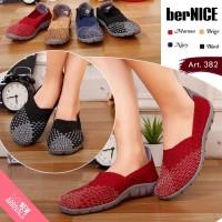berNICE Art 382 NEW Original Sepatu Anyaman Rajut Wanita - Free Box