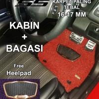 Karpet Honda Brio / Brio Satya 2baris bagasi SS Basic Luxury Heelpad