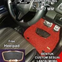 Karpet Honda Brio / Brio Satya 2baris SS basic Luxury Heelpad