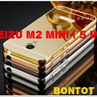 Casing Meizu M2 Mini 5 IN Casing Back Case Aluminium Bumper MIRROR