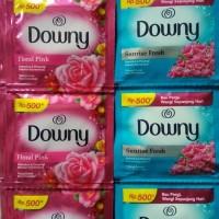 Downy sachet ecer 500 pelembut dan pewangi pakaian laundry harga murah