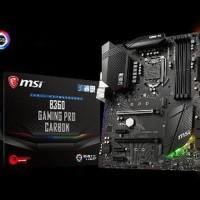 MSI B360 Gaming Pro Carbon - LGA1151 B360 DDR4 USB3.1 SATA3 Diskon