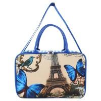 AMT Tas Koper /Travelbag anak dewasa /Tas Baju Kanvas tebal PARIS BIRU