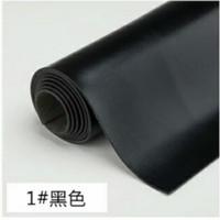 Bahan kulit sintetis tebal MD PELANGI HITAM 50x137cm, Imitasi tebal