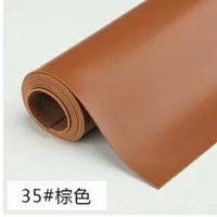 Bahan kulit sintetis tebal MD PELANGI 50x137cm / Imitasi New tan