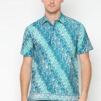 Benangsari Harris Shirt Kemeja Batik Pria - Hijau Toska