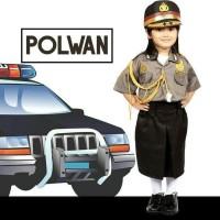 Baju Seragam Profesi Anak Polwan Kostum Setelan Polisi Cewek