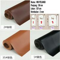 Bahan kulit sintetis tebal MD PELANGI 50x137cm / Bahan kulit imitasi