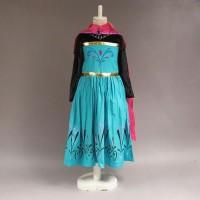 Baju Dress Kostum Elsa Frozen Jubah Merah