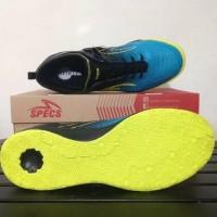New Sepatu Futsal Specs Metasala Musketeer Black Coct Blue 400735