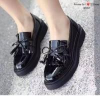 Sepatu Docmart / sepatu oxford Loafers - sepatu hitam wanita