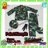 PROMO PAKET KOMPLIT Baju Seragam TNI Anak Tentara cilik karnaval Murah