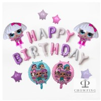 LOL 02 - Paket Balon Dekorasi Ulang Tahun Birthday Tema LOL SURPRISE