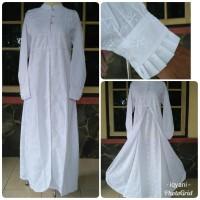 Gamis putih dewasa baju gamis wanita umroh haji