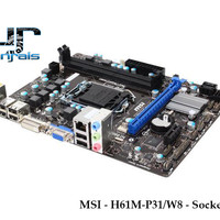 Motherboard MSI - H61M-P31/W8 - Socket 1155