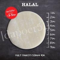 Kulit dimsum / siomay / gyoza diameter 9 cm, 50 lembar