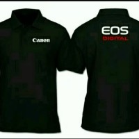 Baju Kaos Kerah Polo Canon eos Jumbo Big Size S M L XL 2XL 3XL 4XL