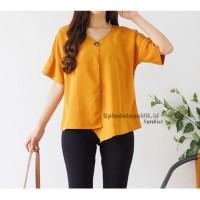 Baju Lengan Pendek Korea Wanita Casual -Blouse Baju Atasan Premium