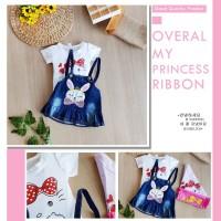 Baju Setelan Overall Jeans Anak Perempuan Rabbit   Overal Import Murah