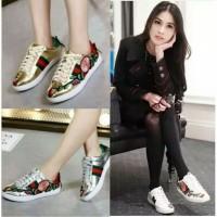 Sepatu Kets Sneakers Wanita Gucci Rep Dewi Sepatu Kasual Bordir Bunga