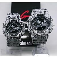 jam tangan couple casio g-shock ga-110 motif batik abu