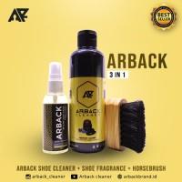 Paket 3 In 1 Arback Premium Shoe Cleaner - Pembersih Sepatu Arback 250