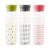 Lock & Lock Handle Bottle Botol Air Minum Tritan 500ml ABF692R/G/GY - Abu-abu