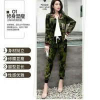 Baju Setelan Wanita Army Katun Import 88156